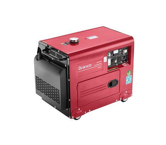 Gerador de energia à diesel 4 kva potência de 10 hp monofásico - BD-6500 ES 110V/220V | LCW Geradores