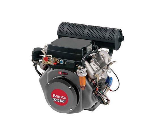 Motor a Diesel 22 Hp 4 Tempos Partida Elétrica - Bd-22.0G2 - Branco | LCW Geradores