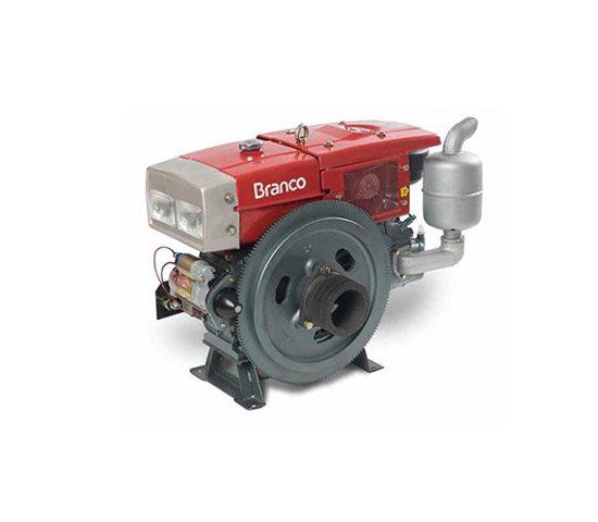 Motor a Diesel Refrigerado a Água BDA-22.0RAE 22 cv com Radiador Partida Elétrica Branco   LCW Geradores