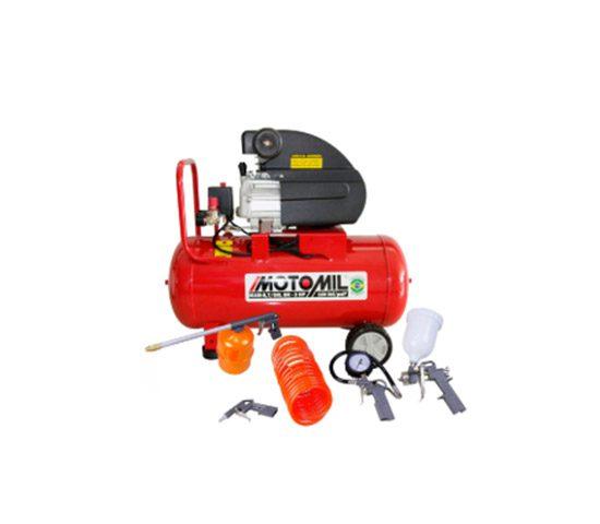 Kit Motocompressor de Ar MOTOMIL-37896.2 8,7 Pés 50L + Kit de Pintura FORTGPRO-FG8670 - MOTOMIL | LCW Geradores