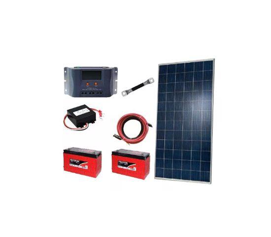 Kit Off Grid 2x Painel Solar 320w+ 2x Baterias 115ah+control | LCW Geradores